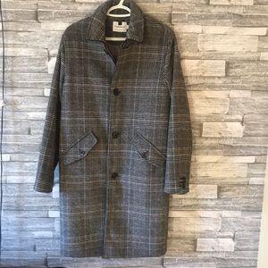 topman long coat mens